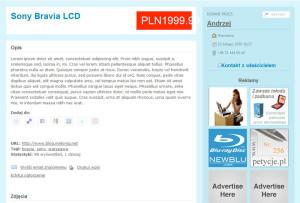 Screenshot ClassiPress - strona ogłoszenia