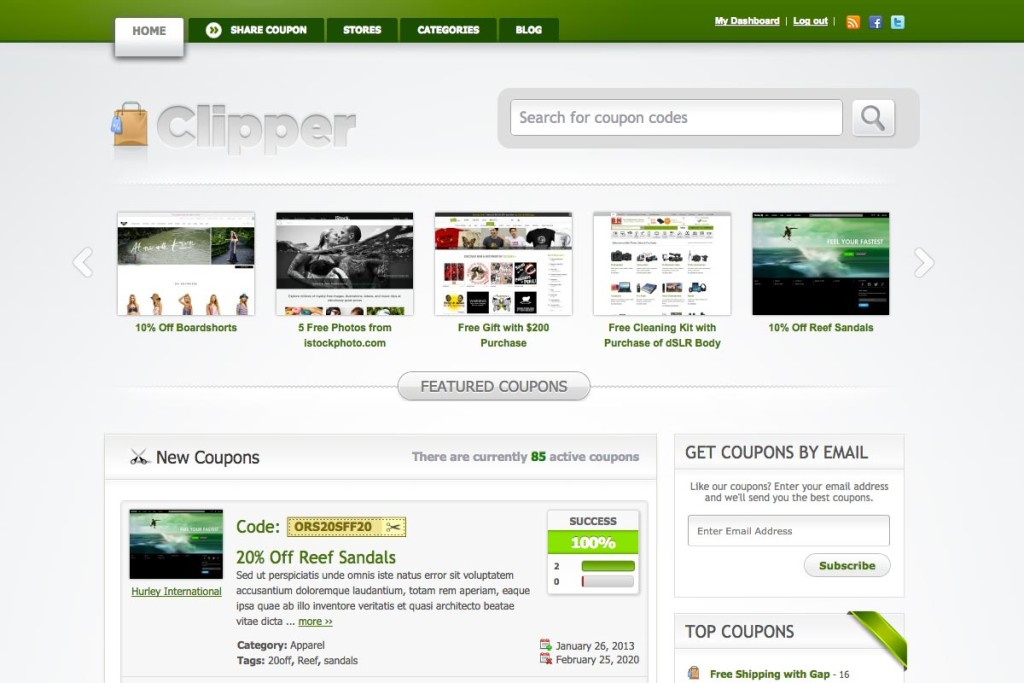 Clipper Coupons Theme